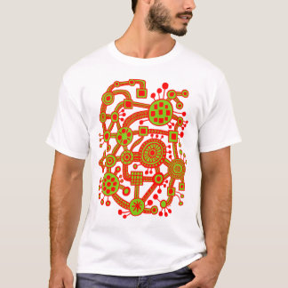 Ecosystem III Red and Martian Green T-Shirt