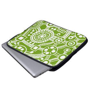 Ecosystem III White on Avocado Laptop Sleeve