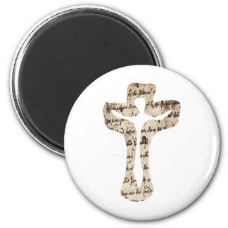 Écriture de los effets del croix del sur de Cristo Imán Redondo 5 Cm