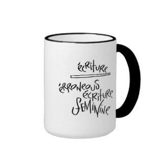 Ecriture femenino taza de dos colores