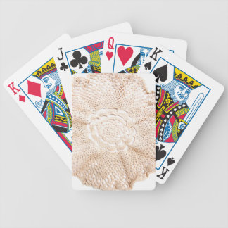 Ecru Beige Tan Old-fashioned Vintage Doily Bicycle Playing Cards