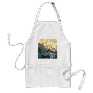 Ecru Brown Blue Abstract Low Polygon Background Adult Apron