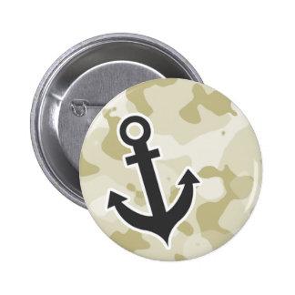 Ecru Camo Anchor Button