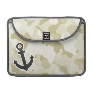 Ecru Camo; Anchor MacBook Pro Sleeve