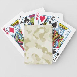 Ecru Camo; Camouflage Poker Cards