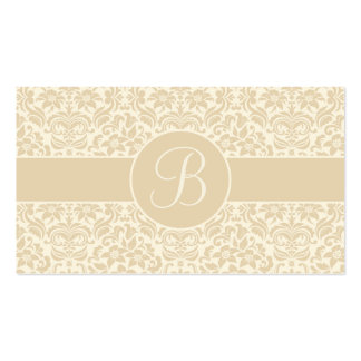 Ecru & Cream Damask Wedding Gift Registry Cards Business Card Templates