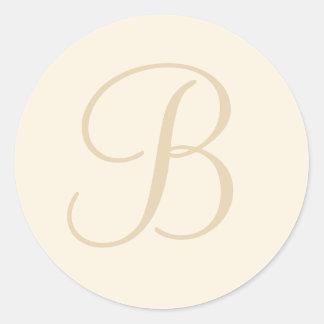 Ecru & Cream Monogrammed Envelope Seal / Gift Tag