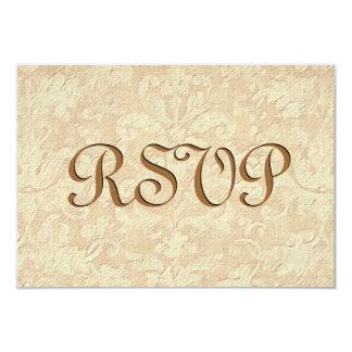 Ecru Damask RSVP Wedding Response Card
