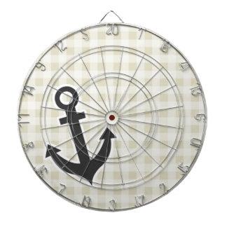 Ecru Gingham; Checkered; Anchor Dartboard