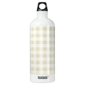 Ecru Gingham; Checkered Water Bottle