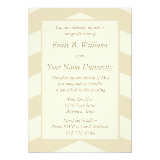 Ecru Graduation Invitations or Announcements