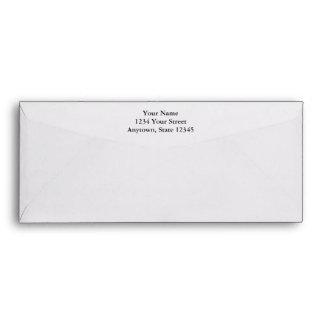 Ecru Long Envelope with Printed Return Address