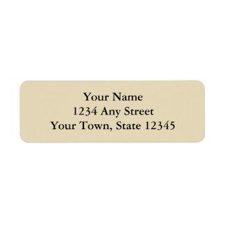 Ecru o el beige imprimió etiquetas del remite etiqueta de remite