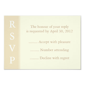 Ecru or Cream RSVP, Reply or Response Card Personalized Announcement