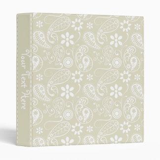 Ecru Paisley; Floral Binder