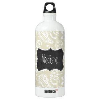 Ecru Paisley; Floral; Vintage Chalkboard SIGG Traveler 1.0L Water Bottle