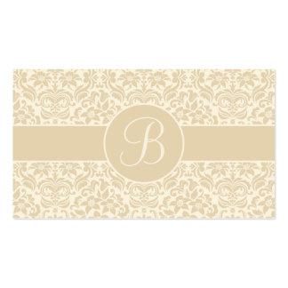 Ecru y tarjetas poner crema del registro de tarjetas de visita