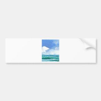 Ecstacy Ocean Beach Waves Surf Art Gifts Bumper Sticker