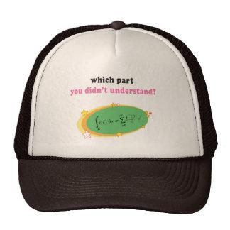 Ecuación compleja de la matemáticas gorra