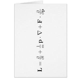 Ecuación de Boltzmann, negro Tarjeta De Felicitación