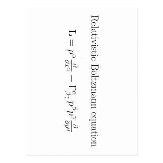 Ecuación de Boltzmann relativista Tarjeta Postal
