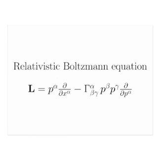 Ecuación de Boltzmann relativista Postal