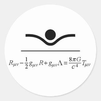 Ecuación de campo pegatina