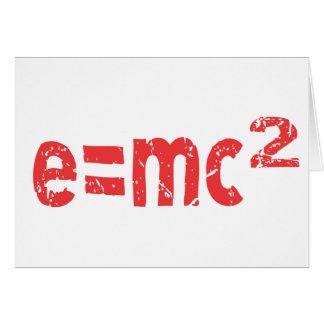 ecuación de energía de la física tarjeta de felicitación