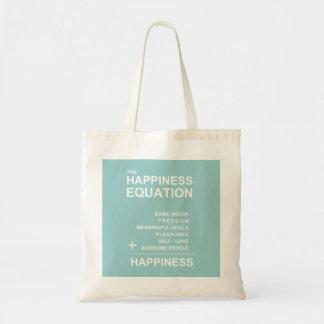 Ecuación de la felicidad bolsa tela barata