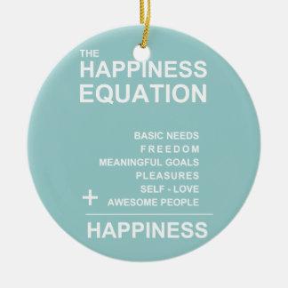 Ecuación de la felicidad ornato