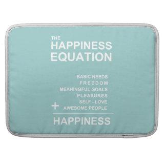 Ecuación de la felicidad fundas para macbook pro
