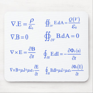 ecuación de la física del maxwell alfombrilla de raton