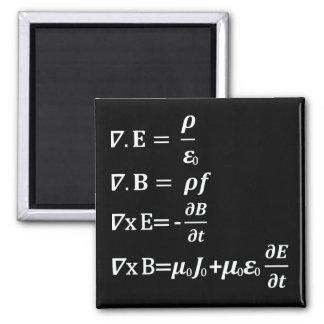 ecuación de la física del maxwell imán cuadrado