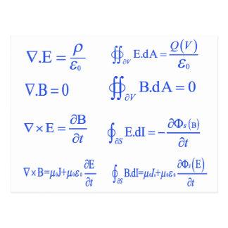 ecuación de la física del maxwell postales