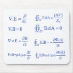 ecuación de la física del maxwell tapete de raton