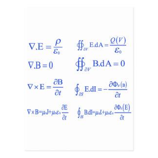 ecuación de la física del maxwell postal