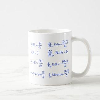 ecuación de la física del maxwell taza básica blanca