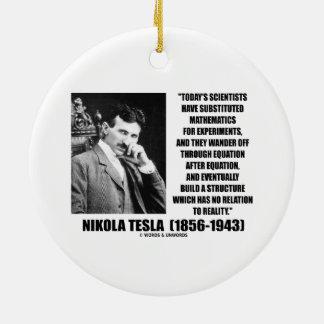 Ecuación de los científicos de Nikola Tesla Adorno Redondo De Cerámica