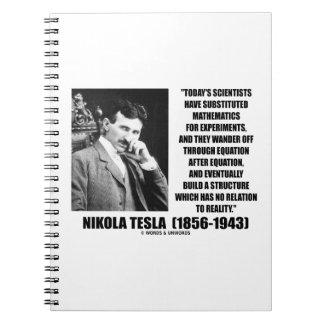 Ecuación de los científicos de Nikola Tesla ningun Libretas Espirales