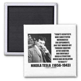Ecuación de los científicos de Nikola Tesla ningun Imán Cuadrado