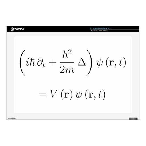 Ecuación de onda de Schrodinger Portátil 43,2cm Skin