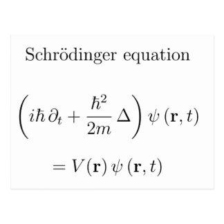 Ecuación de Schrodinger con nombre Postal