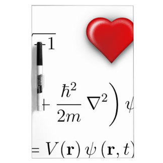 Ecuación de Schrodinger del corazón I Pizarra Blanca