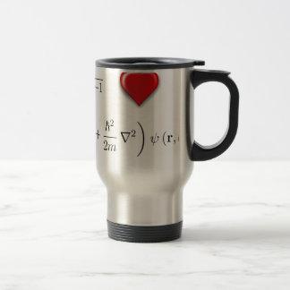 Ecuación de Schrodinger del corazón I Taza De Viaje De Acero Inoxidable