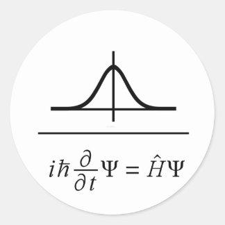 Ecuación de Schrodinger Pegatina Redonda