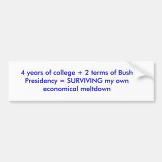 Ecuación del estudiante universitario de la univer pegatina para auto