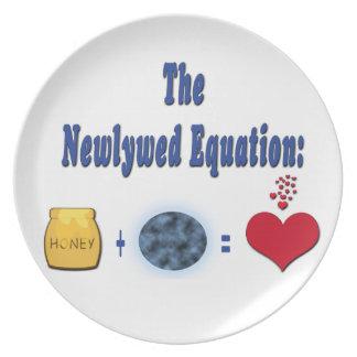 Ecuación del recién casado platos