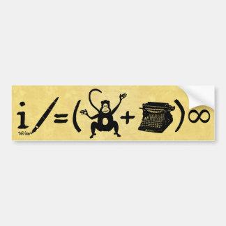 Ecuación divertida de la máquina de escribir del m pegatina de parachoque