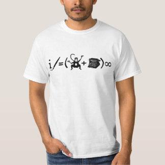 Ecuación divertida de la máquina de escribir del playera