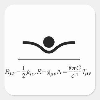 Ecuaciones de campo calcomanía cuadrada